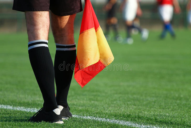 Soccer referee stock photography