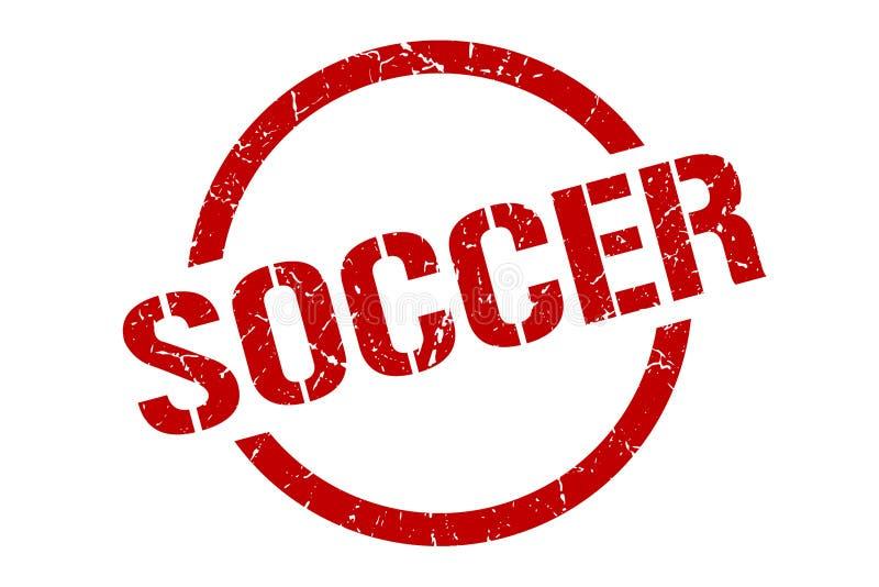 soccer stamp royalty free illustration