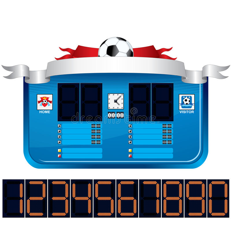 Download Soccer Scoreboard. Vector Ready For Your Text Stock Vector - Illustration of play, illustration: 35470468