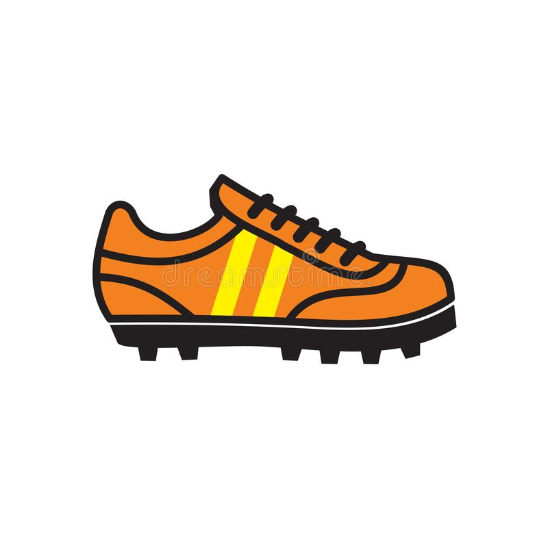 Soccer shoes icon on white background for graphic and web design, Modern simple vector sign. Internet concept. Trendy symbol for stock illustration