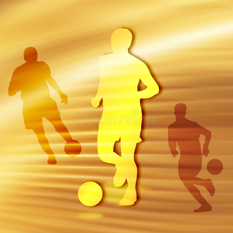 Soccer Silhouette stock illustration
