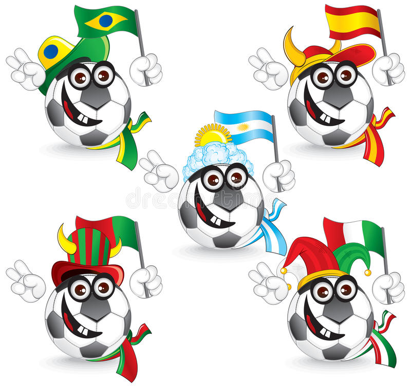Soccer Smileys Stock Photography
