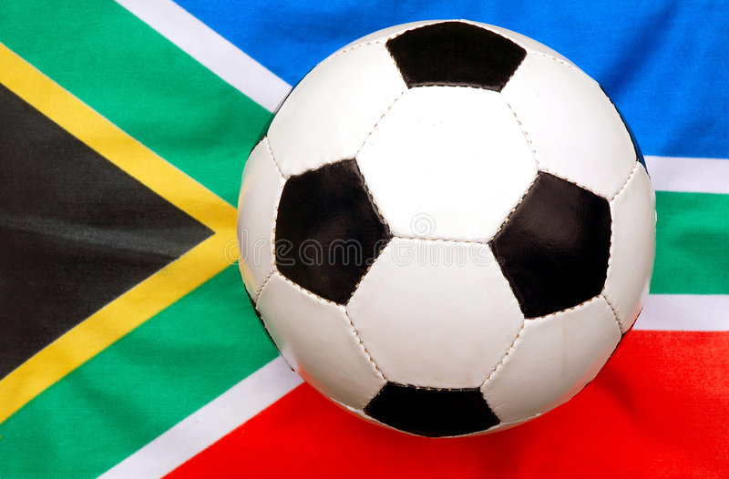 Soccer ball South Africa stock photo