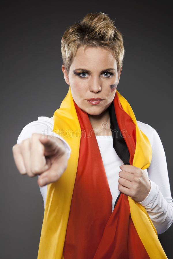Soccer Sport Fan Supporter Germany stock photo