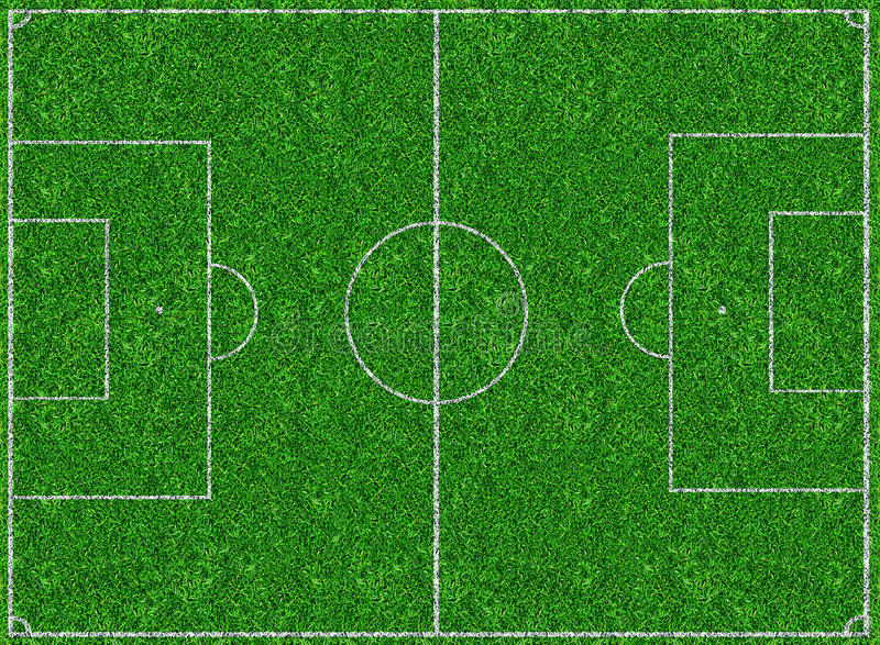 Soccer sport stadium. Aerial view of soccer sport stadium field stock photography