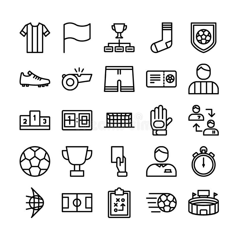 Soccer sports outline icon royalty free illustration