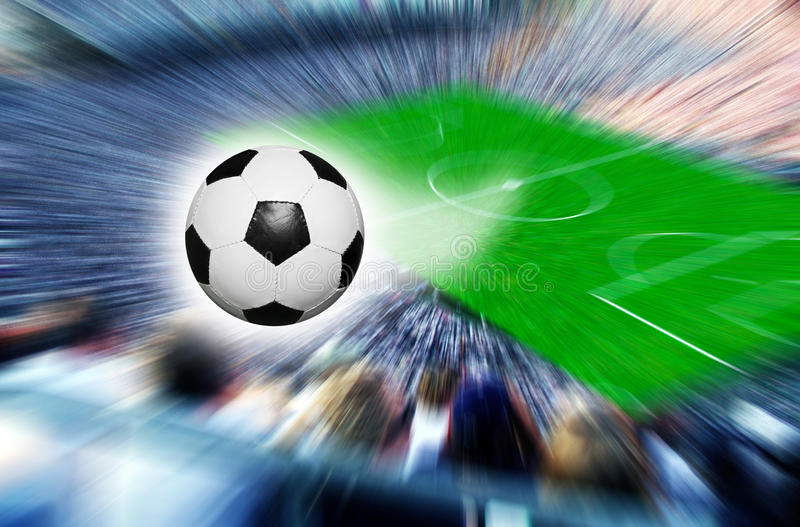 Download Soccer stadium stock image. Image of motion, flying, 2010 - 13406861
