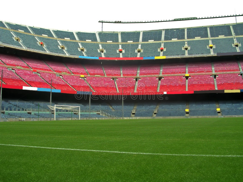 Soccer stadium stock photo