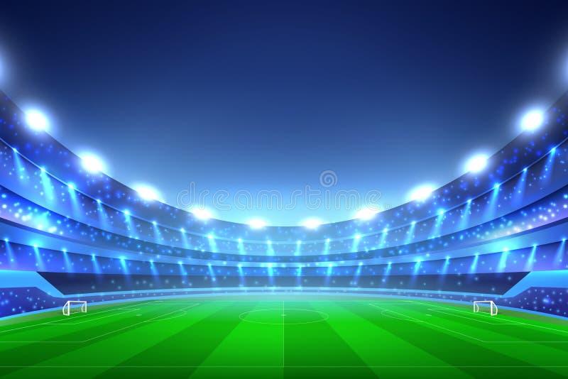Soccer Stadium Background stock illustration