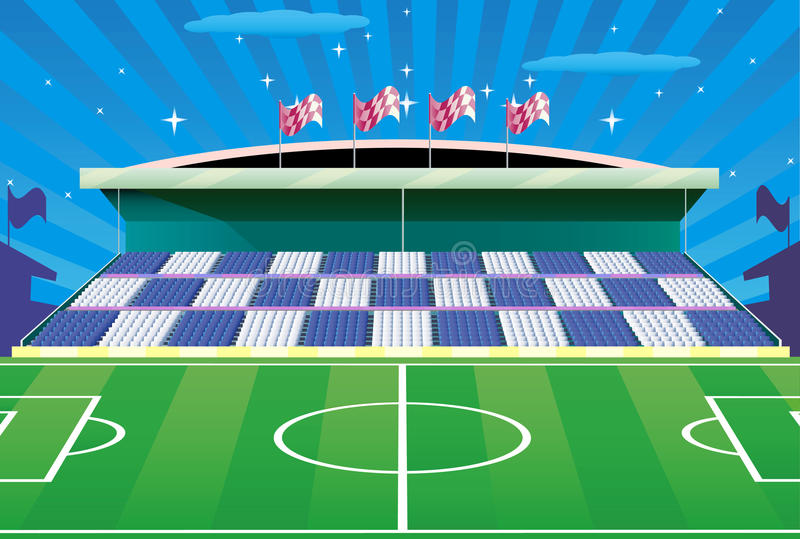Download Soccer Stadium And Detailed Tribune. Stock Vector - Image: 15986779