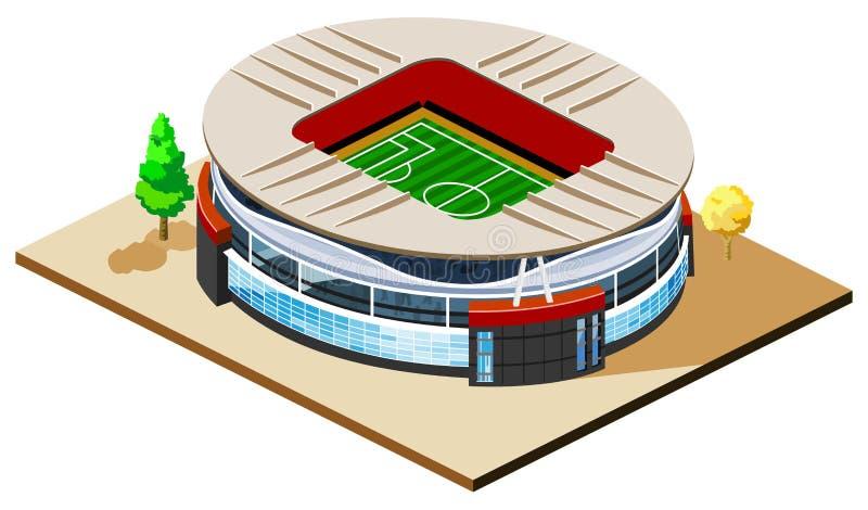 Soccer Stadium Isometric stock illustration