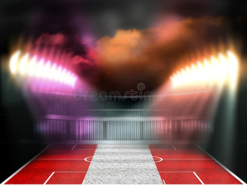 Soccer stadium at night royalty free stock images