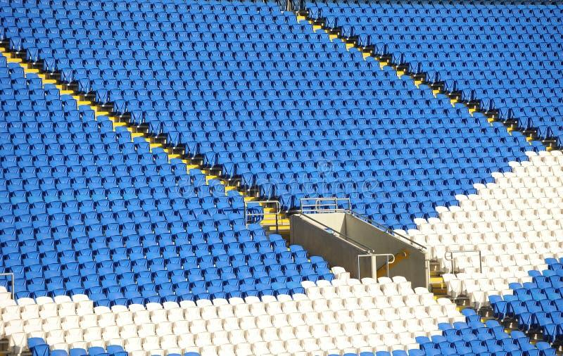 Soccer stadium seating stock image