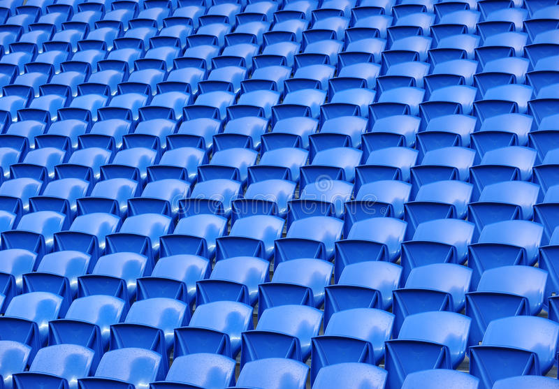 Soccer stadium seats royalty free stock images