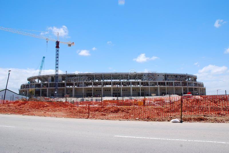 Soccer stadium unfinished stock photo