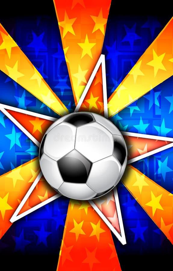 Soccer Star Burst Orange stock photography
