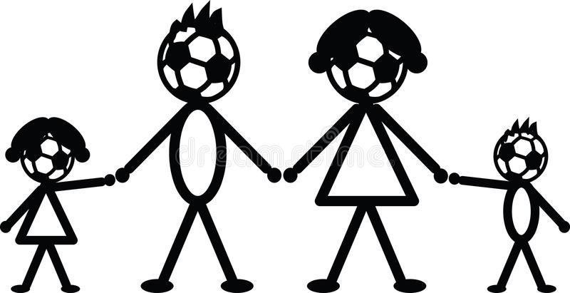 Download Soccer stick family stock vector. Image of kids, father - 34641937