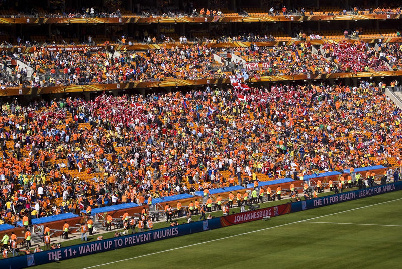 Soccer Supporters at Soccer City - FIFA WC. Soccer Supporters at Soccer City. They came in their tens of thousands. Soccer City Stadium, Soweto, Gauteng, saw an stock images