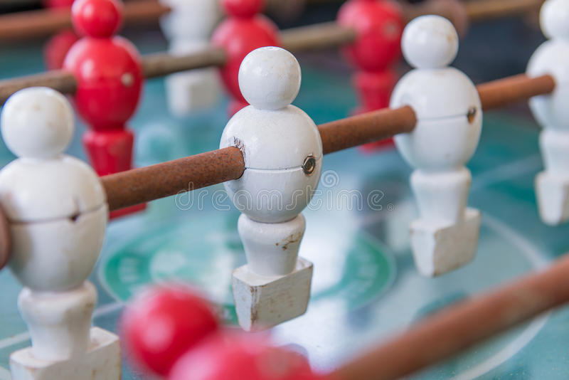 Foosball Battle Close Up Stock Photo Image Of Depth