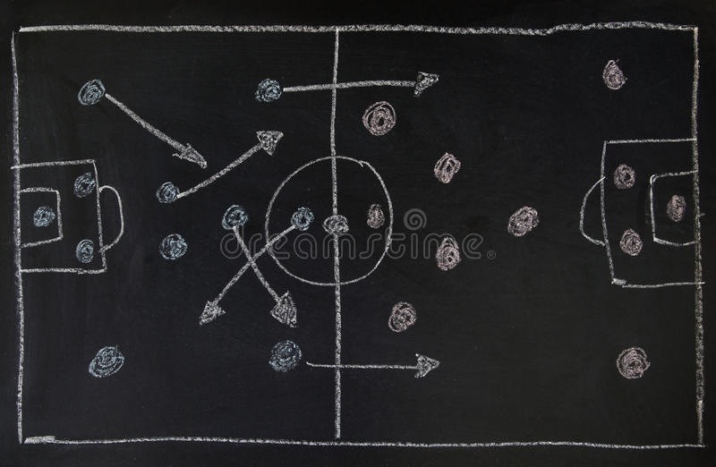 Soccer tactic royalty free stock images