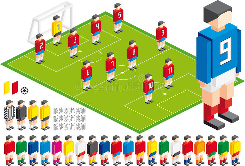 Download Soccer tactical Kit stock vector. Image of isometric - 20152058