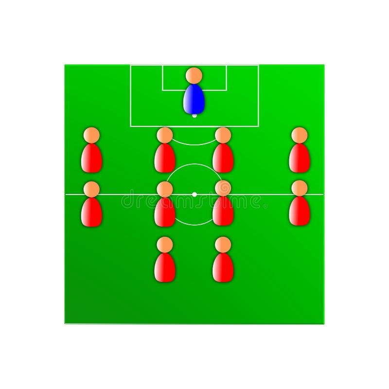 Soccer tactics royalty free stock photo