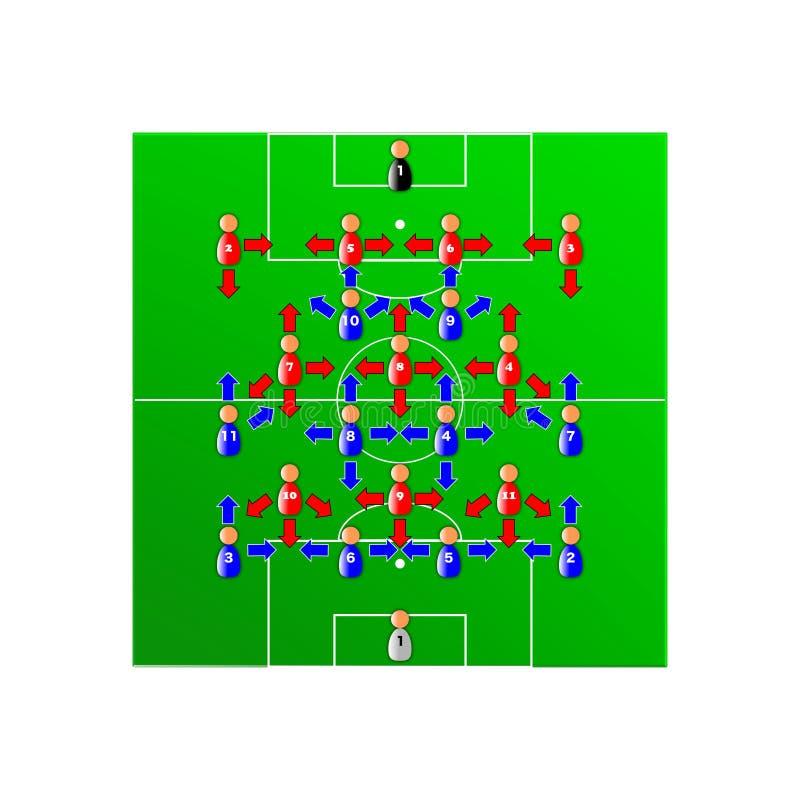 Download Soccer tactics stock vector. Illustration of drawing - 12709794