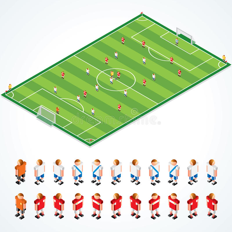Download Soccer Tactics stock vector. Image of perspective, grass - 18198602