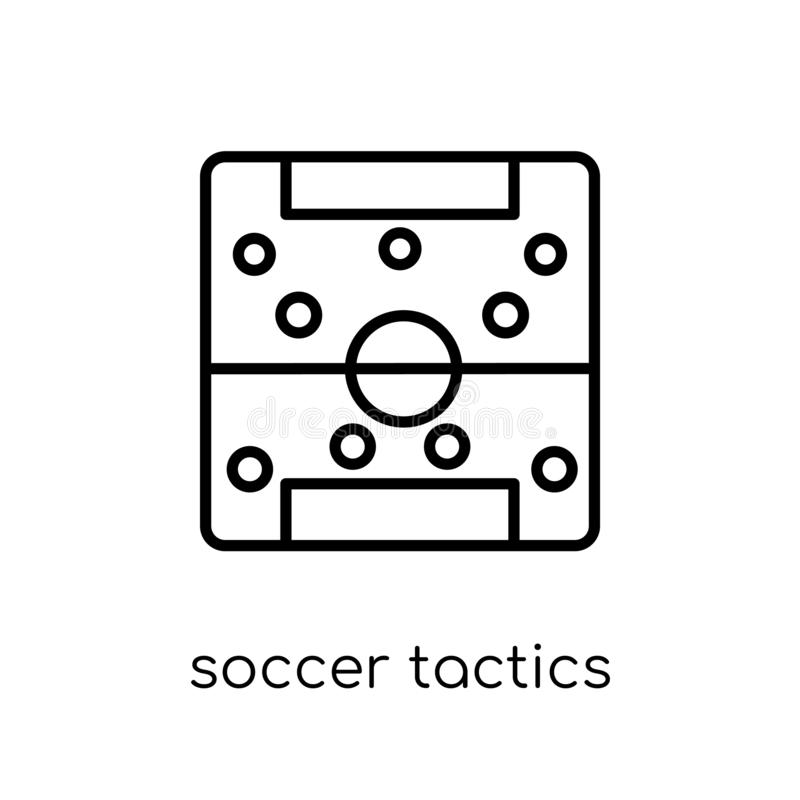 Soccer tactics diagram icon from Productivity collection. stock illustration