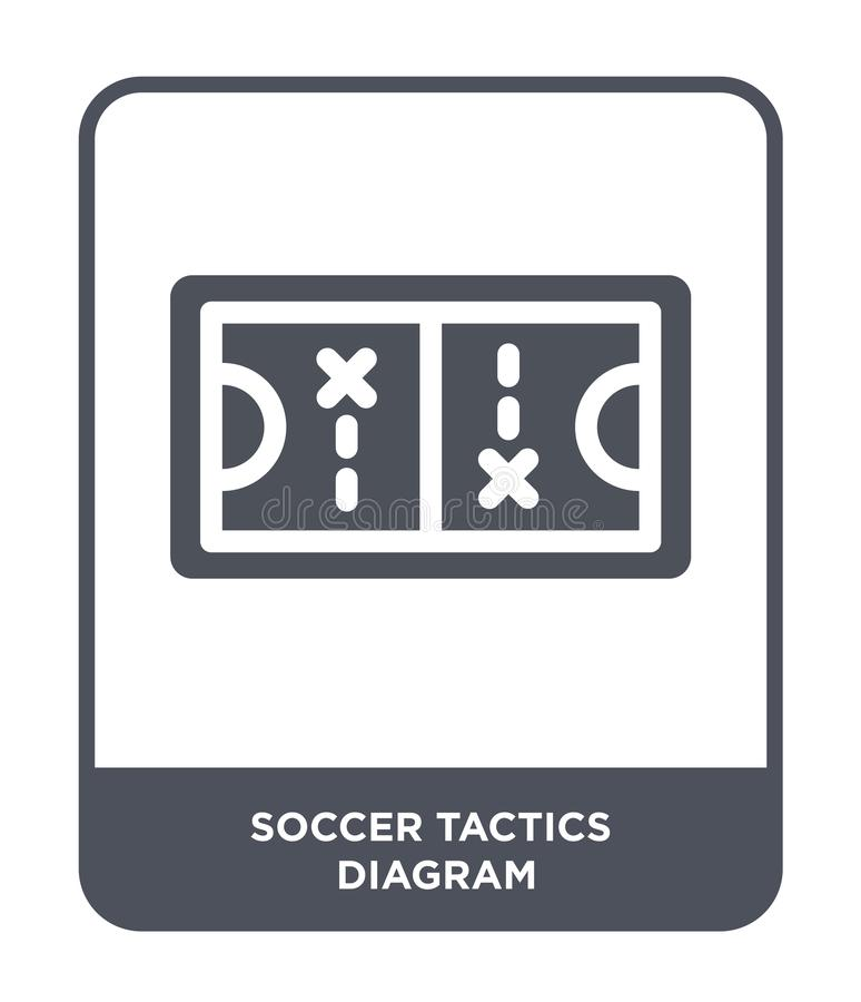 soccer tactics diagram icon in trendy design style. soccer tactics diagram icon isolated on white background. soccer tactics royalty free illustration