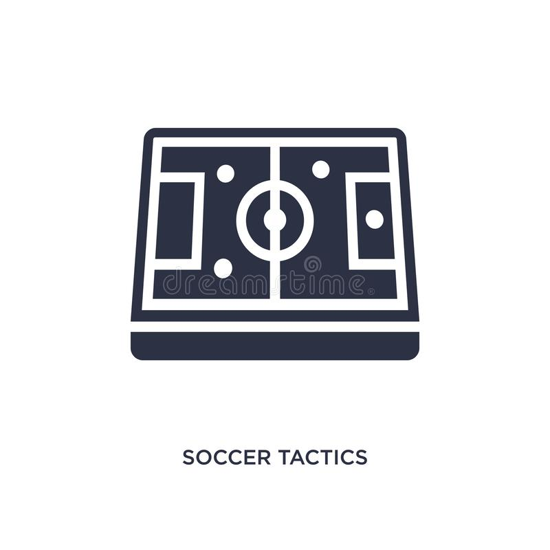 soccer tactics diagram icon on white background. Simple element illustration from productivity concept royalty free illustration