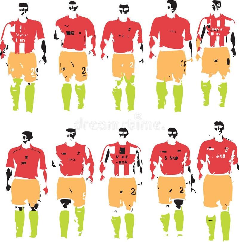 Soccer Team royalty free illustration