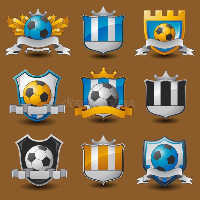 Soccer team emblems. Labels EPS 10 vector illustration