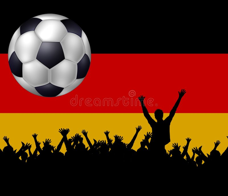 Soccer team germany royalty free stock image
