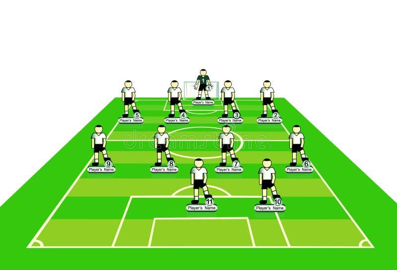 Download Soccer Team Tactical Scheme. Stock Vector - Illustration of sport, cartoon: 13993885