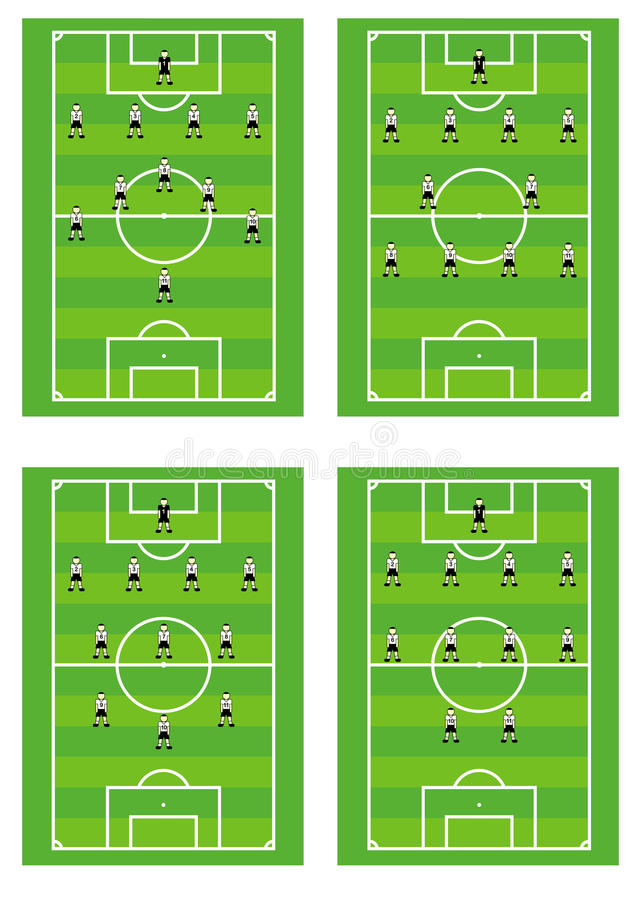 Download Soccer Team Tactical Schemes. Stock Image - Image: 12604631