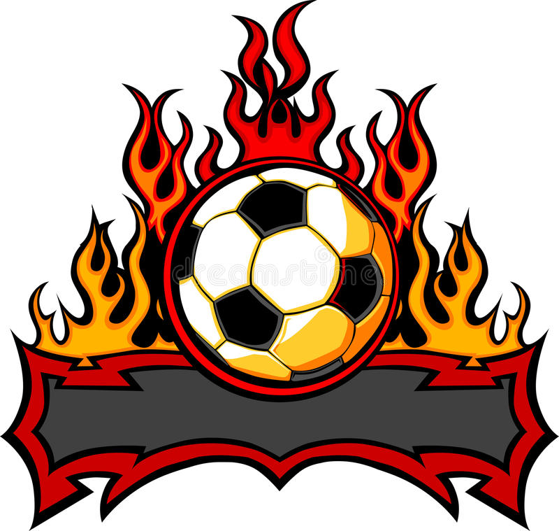 Download Soccer Template With Flames  Image Stock Vector - Image: 22082502