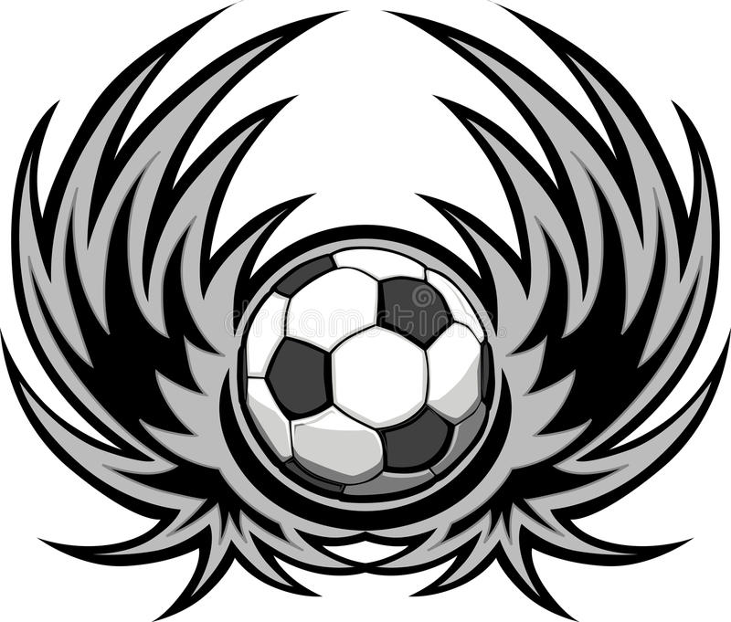 Download Soccer Template with Wings stock vector. Illustration of soccer - 23334305