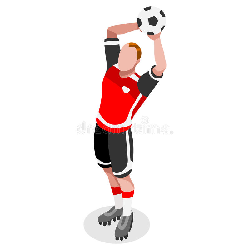 soccer throw player athlete sports icon set 3d isometric field rh dreamstime com Olympic Torch Clip Art Olympic Sports