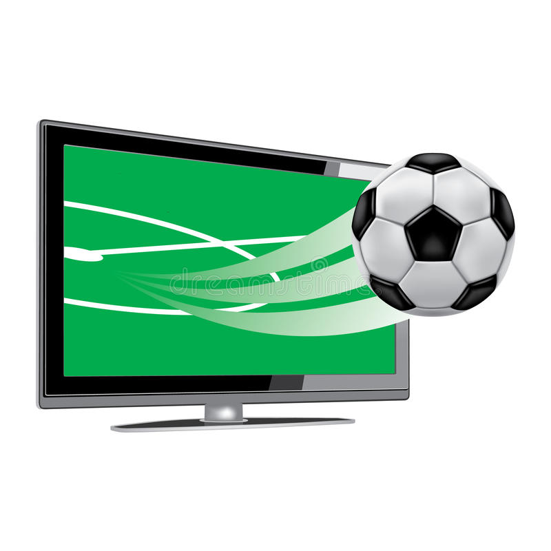 Download Soccer-on-the-tv stock vector. Image of film, industry - 16831652