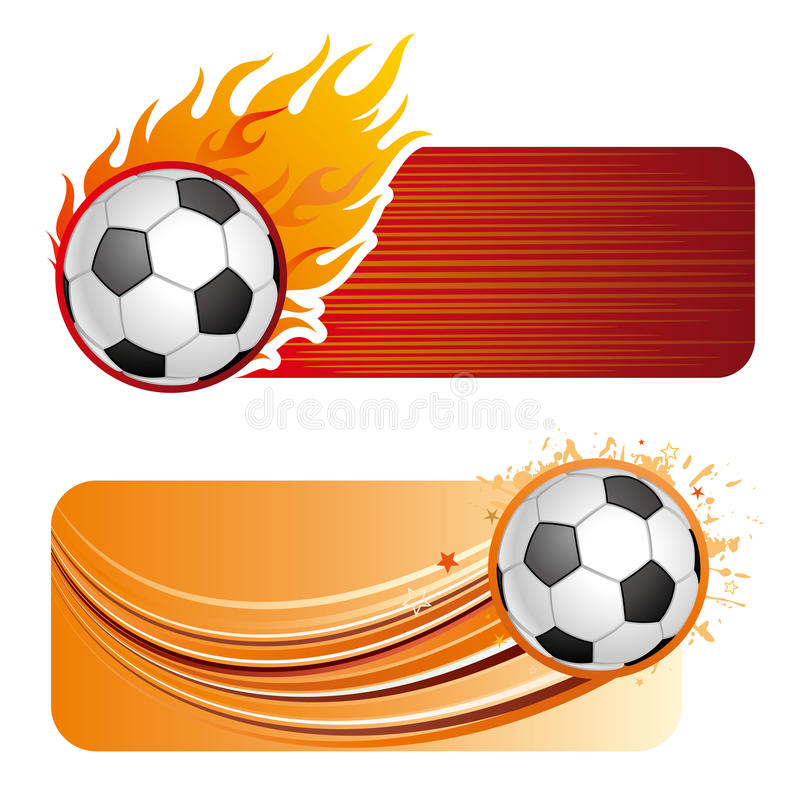 Free Soccer With Flames Stock Images - 16461364