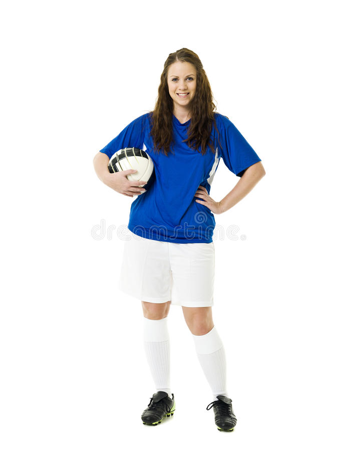 Soccer Woman Stock Image