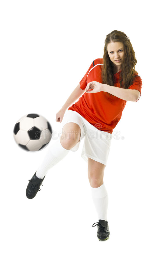 Soccer Woman royalty free stock image