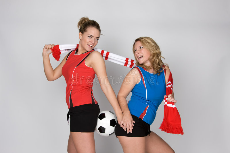 Download Soccer woman stock image. Image of attractive, line, euro - 5306113
