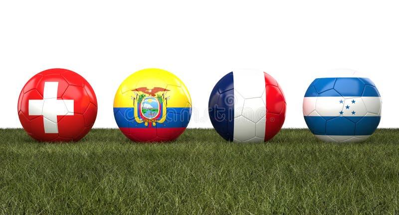 Soccer wordl cup balls stock illustration
