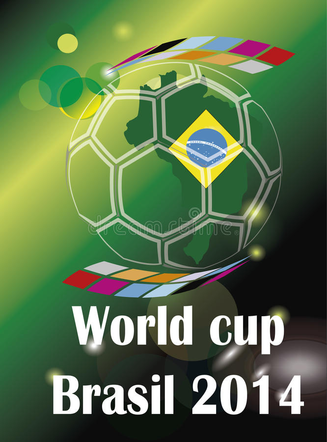 Soccer world cup Brazil 2014 countrys vector illustration