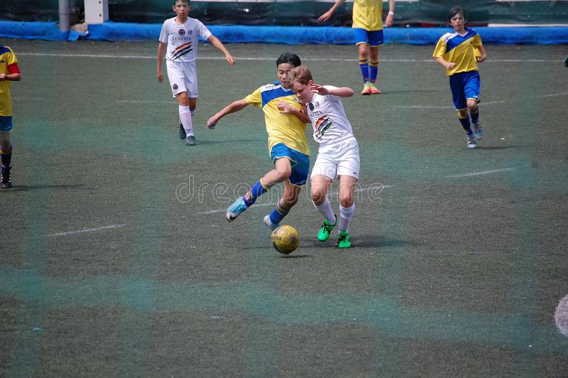 Soccer young player stock image