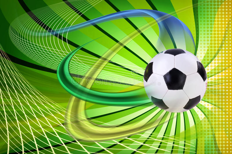 Retro Soccer Background With All Nations Stock Illustration