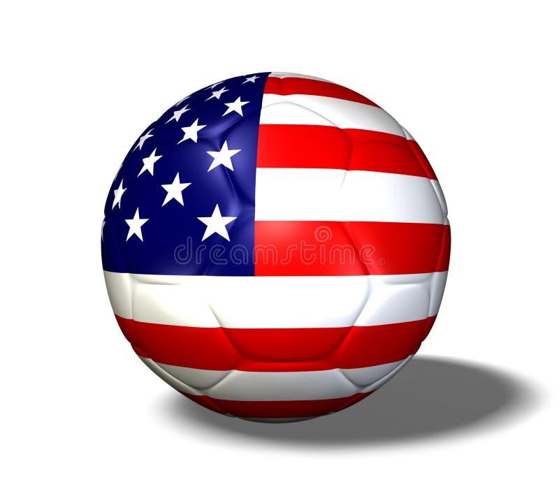 soccerball ΗΠΑ απεικόνιση αποθεμάτων