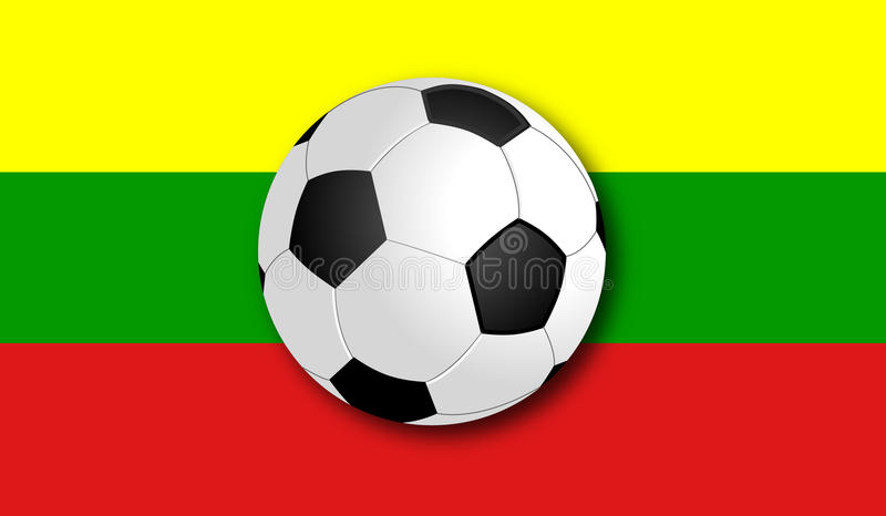 Soccerball με τη σημαία απεικόνιση αποθεμάτων